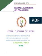 Perfil Cultural Del Peru Luz Negreros Ruiz
