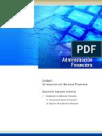 UNIDAD I  - ADMINISTRACION FINANCIERA - URBE - JINETTE
