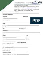 Formulario de Restituicao de Taxa - Emater