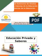 Educación Privada y Saberes.pptx