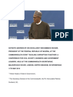 Keynote Address HE Muhammadu Buhari May 11 London