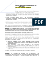 Formato de Minuta SAC Con Directorio Aporte Bienes