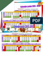 0 Calendar Scolar 20152016