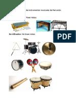 Clasificación de Instrumentos Musicales de Percusión