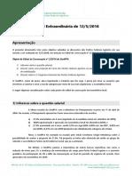 Documento-base para a reunião da Assembleia Geral do SindPFA em 12/5/2016