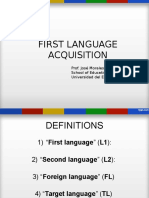 first language acquisition  1