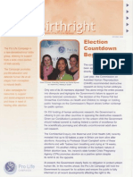 Pro Life Campaign Ireland Newsletter - Birthright Spring 2006