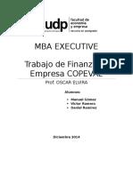 MBA UDP - Trabajo Finanzas II