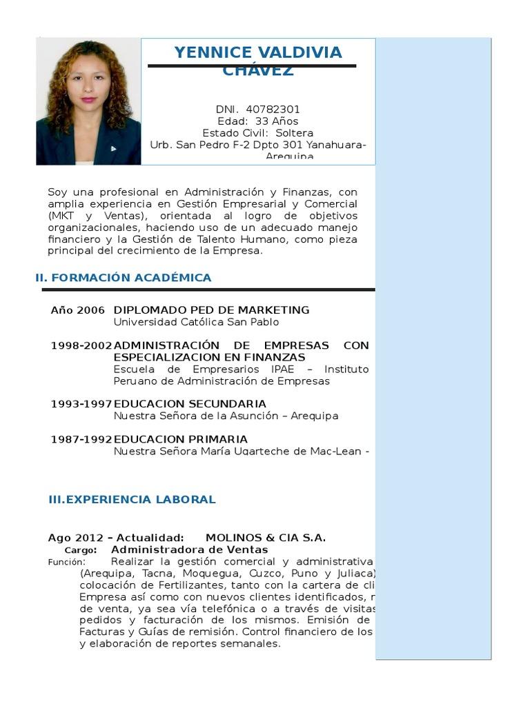 Único Ejemplos De Currículum De Ventas Molde - Ejemplo De Colección ...