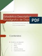Clase 12. Clase Estadistica Descriptiva . Estadigrafos de Dispersion..pdf