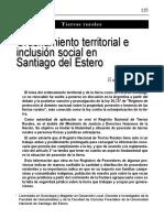 Ordenamiento Territorial e Inclusion Social en Santiago Del Estero