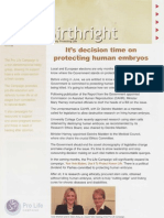 Pro Life Campaign Ireland Newsletter - Birthright November 2008