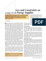 Basic Choices and Constraints on Long-Term Energy Supplies