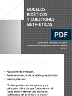 Power Modelos Bioéticos y Cuestiones de Meta-ética