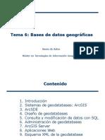Tema 6 Bases de Datos Geográficas