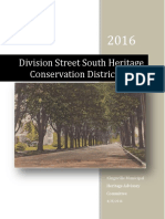 Division Street South Heritage Conservation District Study