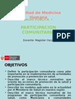 Clase Participacion Comunitaria 2012