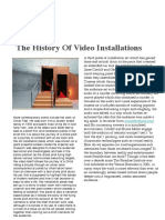 history of video installtions