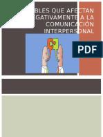 Variables Que Afectan Negativamente a La Comunicación Interpersonal