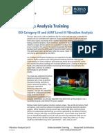 Vibration Analysis ISO Cat III
