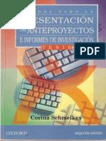 Manual Para La Presentación de Anteproyectos