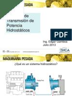 09. Sistemas de Transmisión de Potencia Hidrostáticos - Ing. Edgar Gamboa Qusipe