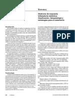 Síndrome de Respuesta Inflamatoria Sistémica - Clasificación, Fisiopatología y Estrategias Para El Tratamiento