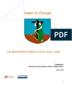 The Montserrat National Energy Policy 2016-2030