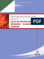 Chauffage Central - CALCUL DES DéPERDITIONS THERMIQUES - Élaboration Théorique
