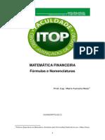 Fórmulas e Nomenclaturas da Matemática Financeira