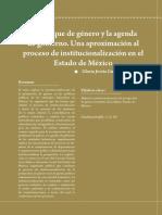 Enfoque de Género y La Agenda de Gobierno_una Aproximación Al Proceso de Institucionalización en El Estado de México