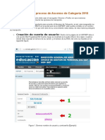 Pasos Para Inscripcion Al Proceso de Ascenso de Categoria 2016