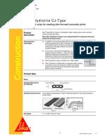 Sika Hydrotite CJ-Type 2012-01-1