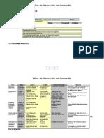 Taller de Planeación Programa Análitico
