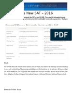New SAT Parent Resource Sheet