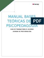 Manual Bases Teóricas de La Psicopedagogía