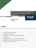 6 - Certificacion Inf Base Eval Recursos CMP - W. Cuadra - Santiago Metals