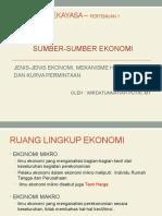 Ekonomi Rekayasa Pertemuan 1