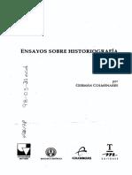 [Ensayos Sobre Historiografía _ Germán Colmenares.] [Edición a Cargo de Hernán Lozano Hormaza