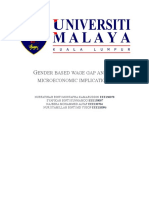 Gender Based Wage Gap and Its Microeconomic Implications