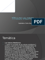 Titulos Valores XVI