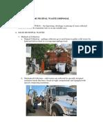 Municipal Waste Disposal