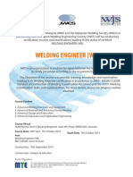 Welding Engineer Sept - Oct 2014