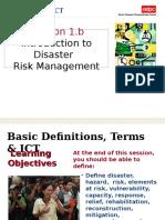 Disaster Management Session 1b.2
