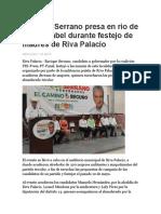 2016-05-11 Promete Serrano Presa en Río de Santa Isabel Durante Festejo de Madres de Riva Palacio