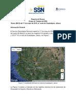 REPORTE ESPECIAL DEL SISMO EN GUADALAJARA