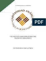 Valoración Perioperatoria Del Paciente Geriatrico