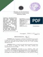 COMELEC Reso 10057 Original General Instructions