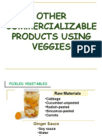 Other Commercializable Vegetable Products