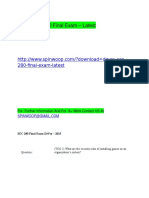 DeVry SEC 280 Final Exam – Latest